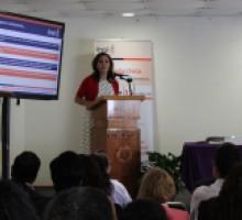 Comisionada Lilia Ibarra del INAI en Conferencia magistral.
