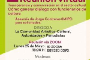 Participa el IMIPE en Reunión Virtual de Transparencia y Comunicación en el Sector Cultural